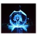 World of Warcraft - Wappen der Horde oder Allianz - Schlüsselanhänger aus Kristallglas mit Farbwechsel-LED