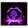 World of Warcraft - Wappen der Allianz - Schl?sselanh?nger aus Kristallglas mit Farbwechsel-LED