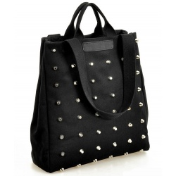 Women Rivet canvas handbags shoulder bags