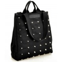 stylische Nieten Stofftasche / Beutel groß mit Innenfächern