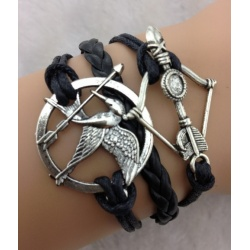 Hunger Games - Bracelet Mocking Oil & Peetas Arrow - Catching Fire - Dark Brown