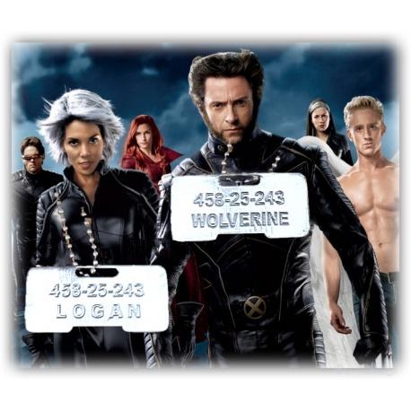 Wolverine / Logan Erkennungsmarke *New Design* - - inkl. geschmeidiger Kugelkette
