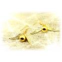 Quidditch earring set golden snatz (snitch), gold plated