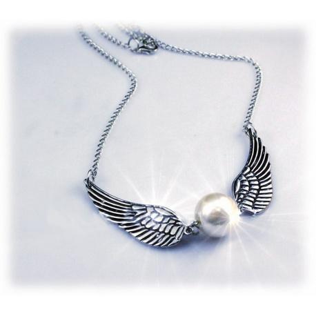 Halskette mit Schnatz (Snitch) versilbert