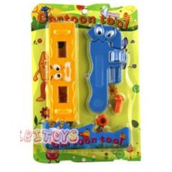 Cartoon Spielwerkzeug Wasserwaage und Rohrzange