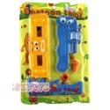 Cartoon Spielwerkzeug Installateur Wasserwaage und Rohrzange