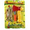 Cartoon Spielwerkzeug Axt, Schrauben und Anschlag