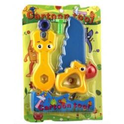 Cartoon Spielwerkzeug Maulschlüssel und Säge