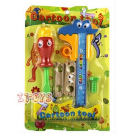 Cartoon Spielwerkzeug Schraubenzieher und Messschieber