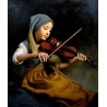 "Gem?lde junges M?dchen spielt Violine /Geige ""young girl playing violin"" handgemalte Replik des Original's"