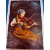 "Gem?lde junges M?dchen spielt Violine /Geige ""young girl playing violin"" handgemalte Replik des Original's"