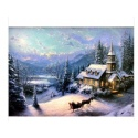 "Kinkade's painting ""Sunday Even"" hand-painted replica of the original's"
