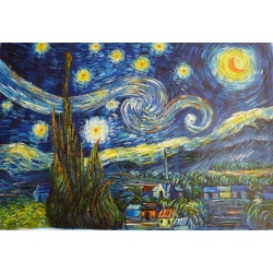 "Van Gogh oil paintings ""Starry Nigh"" hand-painted reply Original it"
