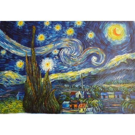 "Van Gogh oil paintings ""Starry Nigh"" hand-painted reply Original it"