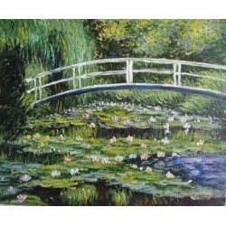 "Claude Monet oil paintings ""water lily pond"" hand-painted replica of the original's"