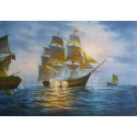 Battle of the Sea hand-painted replica of an unknown painter's original