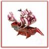 3d Paper Puzzle Piratenschiff Filibuster - Fluch der Karibik - kreatives Calebou Paper Scale Modell (Filibuster)