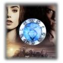 "City of Bones - Chronicles of the Underworld - Blue Rune of the Angel Raziel - Brooch ""Heavenly Power"" - Vintage Rune Angelic Po"