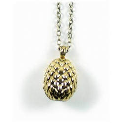 Daenerys Dragon Egg Pendant - Hard Gold Plated - Daenerys's Dragons egg - G.o.Thrones Fashion
