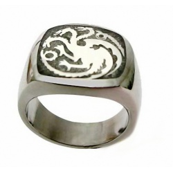 Targaryen Dragon Ring - Hard Silver Plated, in Three Sizes - Daenerys Dragons Ring - G.o.Thrones Fashion