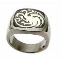 Targaryen Dragon Ring - Hard Silver Plated, in Three Sizes - Daenerys Dragons Ring - G.o.Thrones Fashion