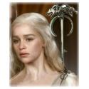 Targaryen Drachen Brosche - hartversilbert & schattiert - Daenerys's Dragon (Wolf) Brooch