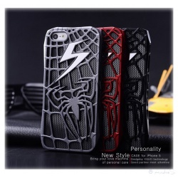 Spider Man Spinnen Blitz Cover - iPhone 5 Schutz-Hülle - Cover Case - Comic Fashion (Schwarz)