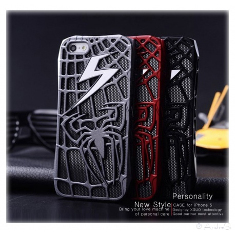 Spider Man Spinnen Blitz Cover - iPhone 5 Schutz-H?lle - Cover Case - Comic Fashion