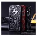 Spider Man Spinnen Blitz Cover - iPhone 5 Schutz-Hülle - Cover Case - Comic Fashion (Schwarz)