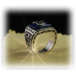 Vampire Jeremy Gilbert Daylight Ring Hard Silvered and Shaded, Punk-Gothik Style