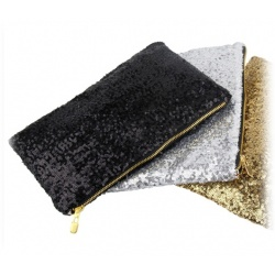 Sparkling Bling Sequins Evening Party Bag Night Handbag Women Fashion Black / Gold
