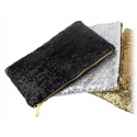 Evening,- Party and theatre bag black/gold with pailettes