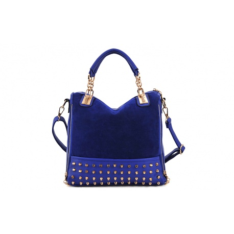 Leder & Flanell Nieten Damen-Handtasche / Schultertasche AndreSi Fashion