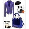 female bag rivet package stitching flannel bag shoulder bag fashion handbag