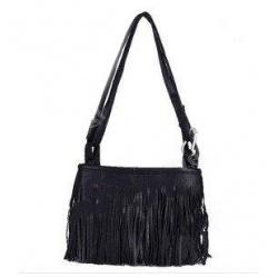 Fransen Damen-Schultertasche Leder Handtasche