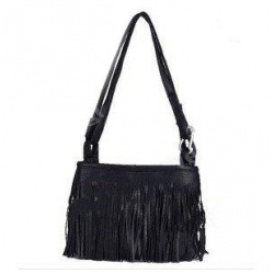 Fringe women's shoulder bag leather handbag